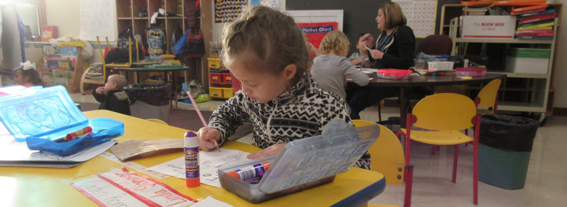 Work, work , work our little K students love to work.