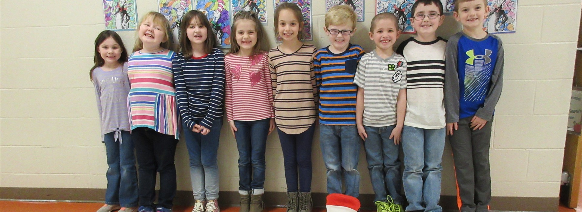 Silly Seuss Smiles in Stripes in Mrs. Kern's Class.